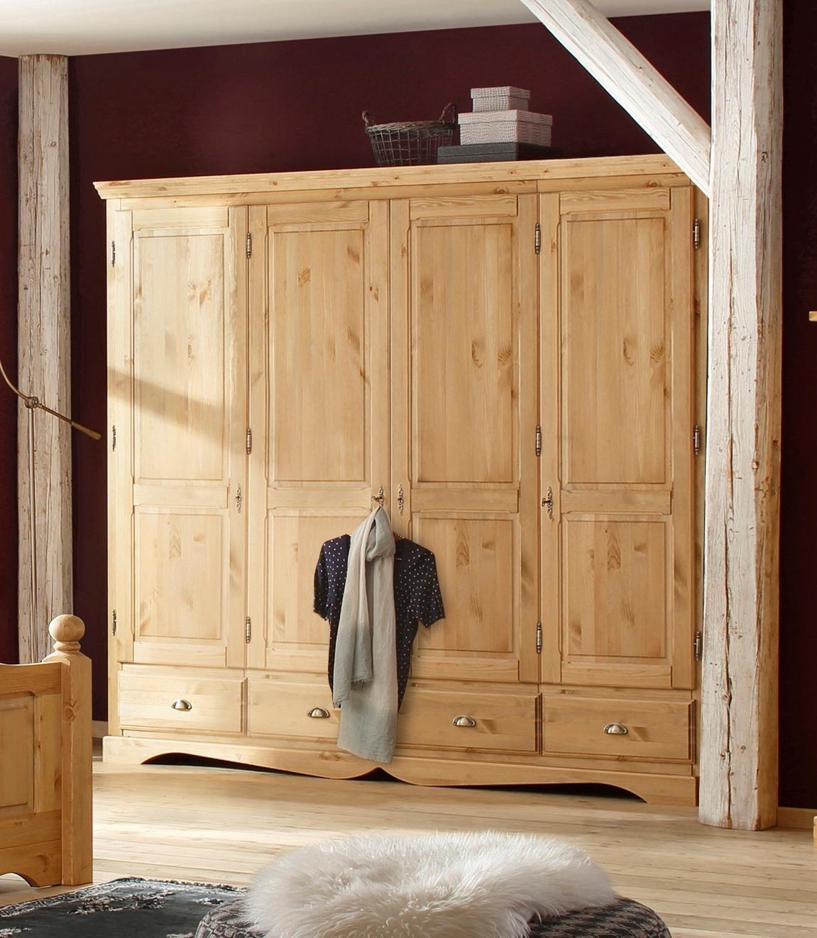 Home affaire Kleiderschrank »Teo«, in vier verschiedenen Breiten und zwei unterschiedlichen Farben | Schlafzimmer > Kleiderschränke > Drehtürenschränke | Glanz | Massiver | Home affaire