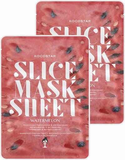 KOCOSTAR Gesichtsmasken-Set »Slice Mask Sheet Watermelon«, 2-tlg., feuchtigkeitsspendend und erfrischend