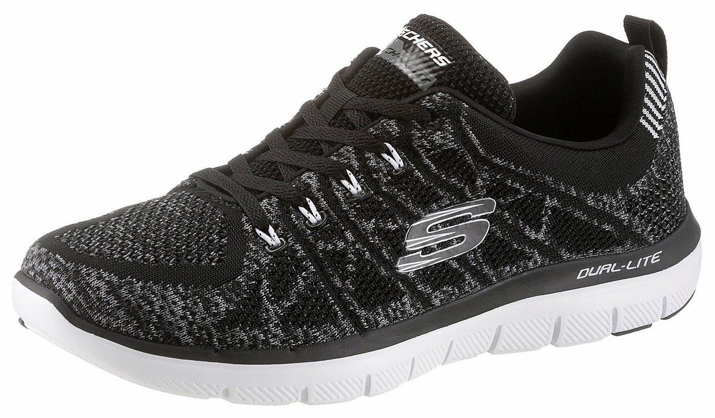 Herren Skechers Talamo Sneaker im knitwear Look schwarz | 00190872576540