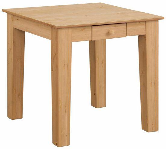 Home affaire Esstisch »Vanda«, mit zwei eingebauten Schubladen aus Massivholz in drei verschiedenen Größen