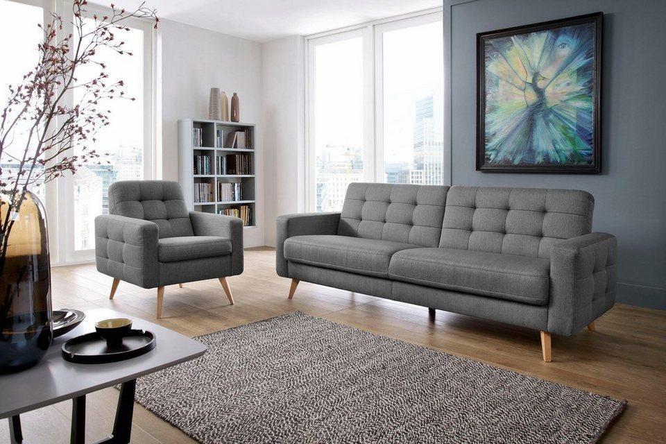 exxpo sofa fashion 3 sitzer mit bettfunktion und bettkasten online kaufen otto. Black Bedroom Furniture Sets. Home Design Ideas
