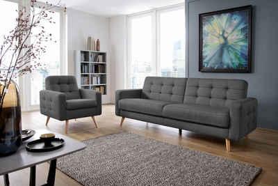Ledersofa dunkelgrau  Sofa in grau online kaufen   OTTO