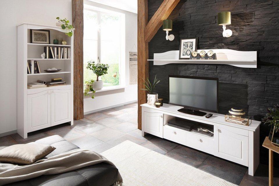 home affaire regal rialto mit 2 holzt ren und deokrativen fr sungen h he 187cm online kaufen. Black Bedroom Furniture Sets. Home Design Ideas