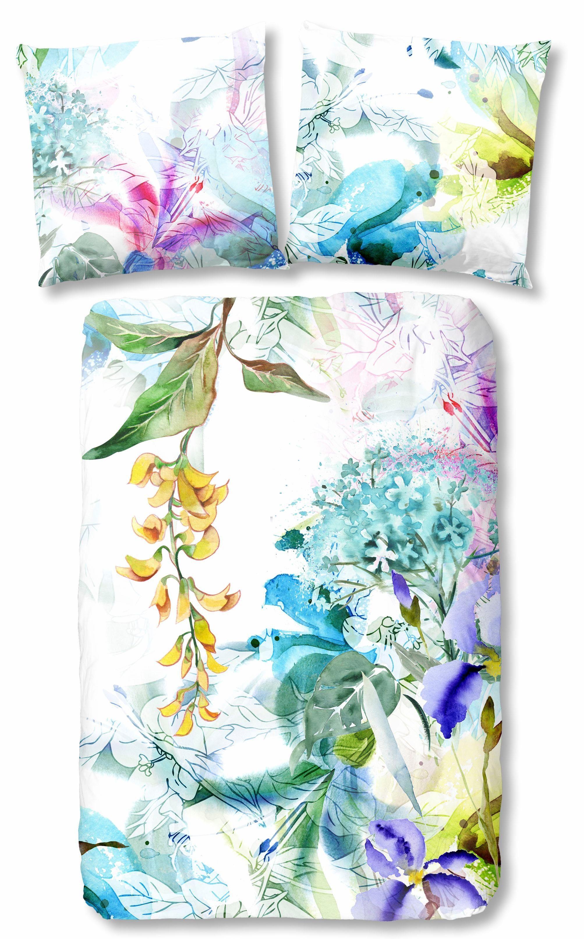 Wendebettwäsche »Bloom«, Descanso, mit floralem Muster