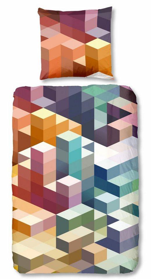 bettw sche cubes good morning mit abstrakten muster. Black Bedroom Furniture Sets. Home Design Ideas