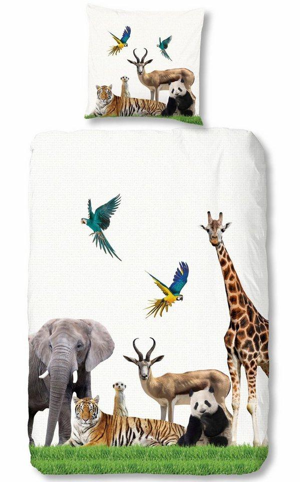 Kinderbettwasche Jungle Good Morning Mit Vielen Tollen Tieren Online Kaufen Otto