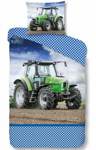 Kinderbettwäsche »Strong«, good morning, mit Traktor Motiv