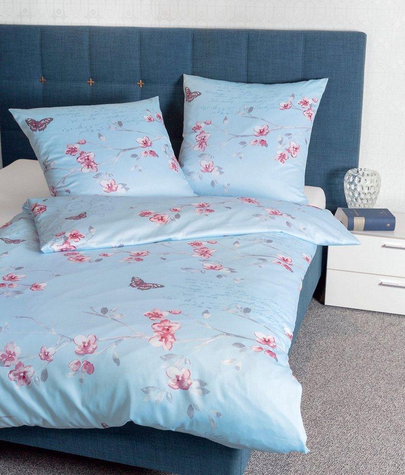 bettw sche florentina janine mit gemalten blumen online kaufen otto. Black Bedroom Furniture Sets. Home Design Ideas