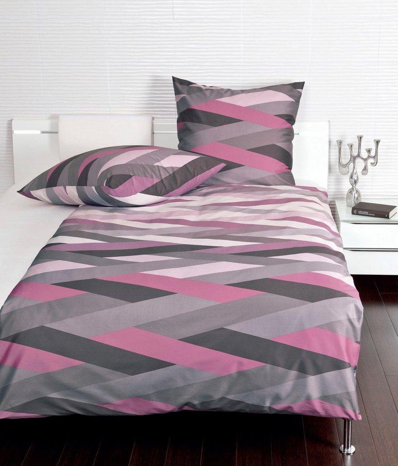 bettw sche moment janine mit zick zack streifen online kaufen otto. Black Bedroom Furniture Sets. Home Design Ideas