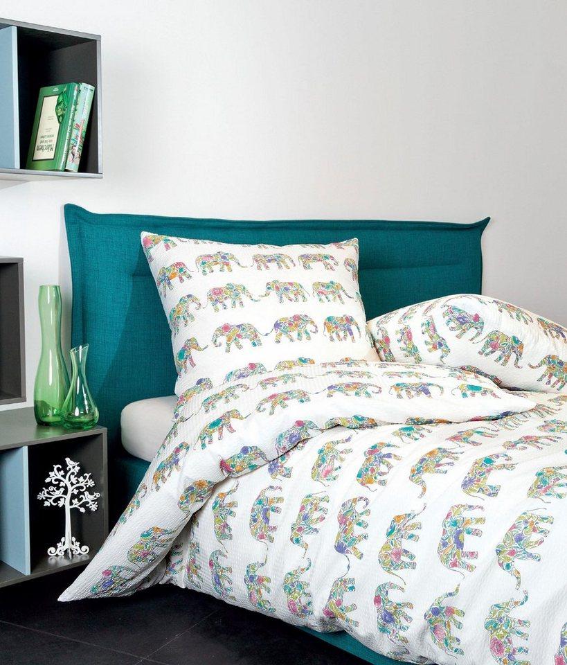 bettw sche elefant janine mit bunten elefanten muster online kaufen otto. Black Bedroom Furniture Sets. Home Design Ideas