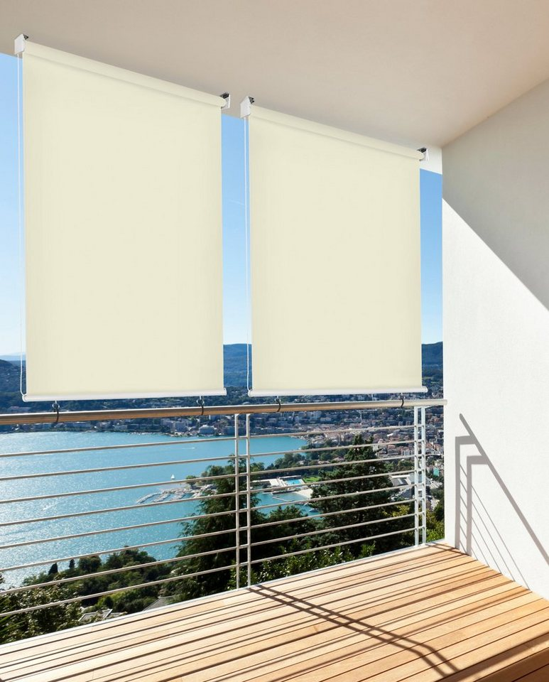 hecht balkonsichtschutz rollo beige lxb 230x180 cm. Black Bedroom Furniture Sets. Home Design Ideas
