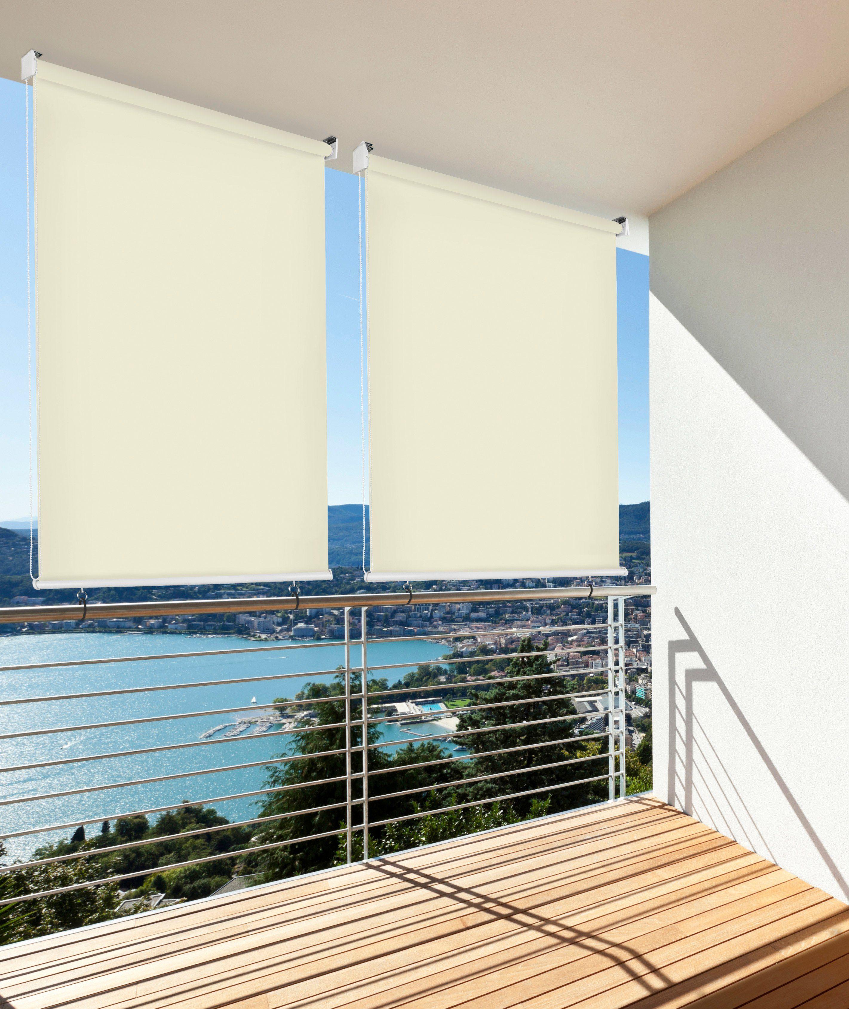 HECHT Balkonsichtschutz , Rollo beige, LxB: 230x140 cm