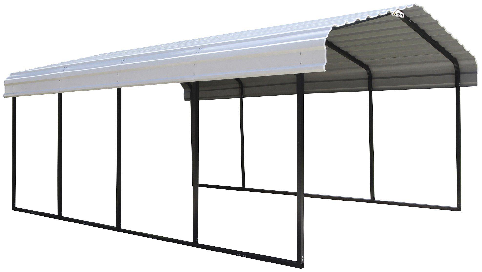 SHELTERLOGIC Einzelcarport »Neapel«, aus Stahl, BxT: 370x610 cm