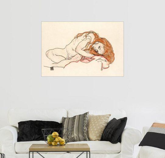 Posterlounge Wandbild - Egon Schiele »Kauernde Frau mit gesenktem Kopf«