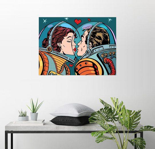 Posterlounge Wandbild »Ein Mädchen und ein Junge«