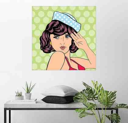 Posterlounge Wandbild »Die Matrosin«