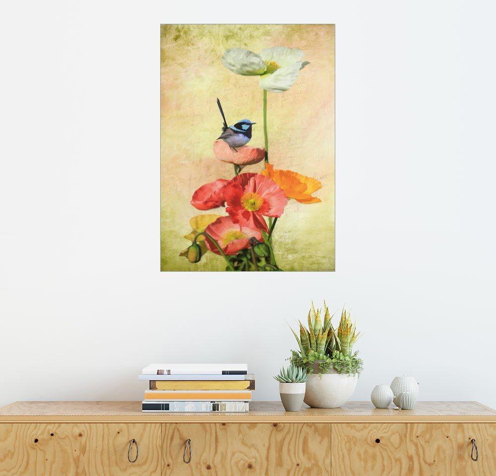 Posterlounge Wandbild - Selina Morgan »kalifornische Mohnblumen« | Dekoration > Bilder und Rahmen > Bilder | Holz | Posterlounge