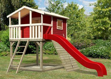 KARIBU Spielturm »Unfug 13«, BxT: 198x236 cm, mit Sandkasten, Rutsche, Holzrampe