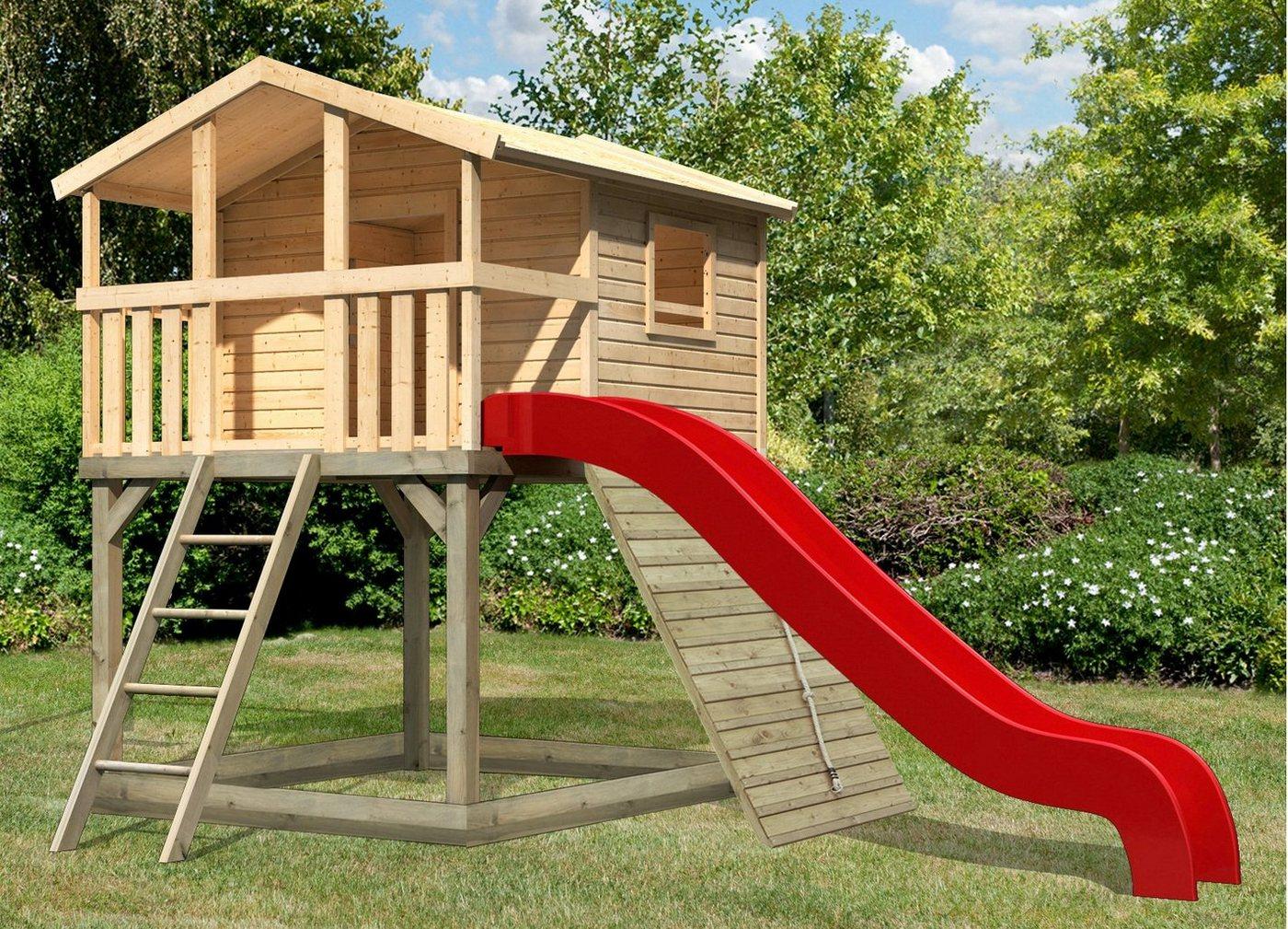 KARIBU Spielturm »Unfug 7«, BxT: 198x236 cm, mit Sandkasten, Rutsche, Holzrampe