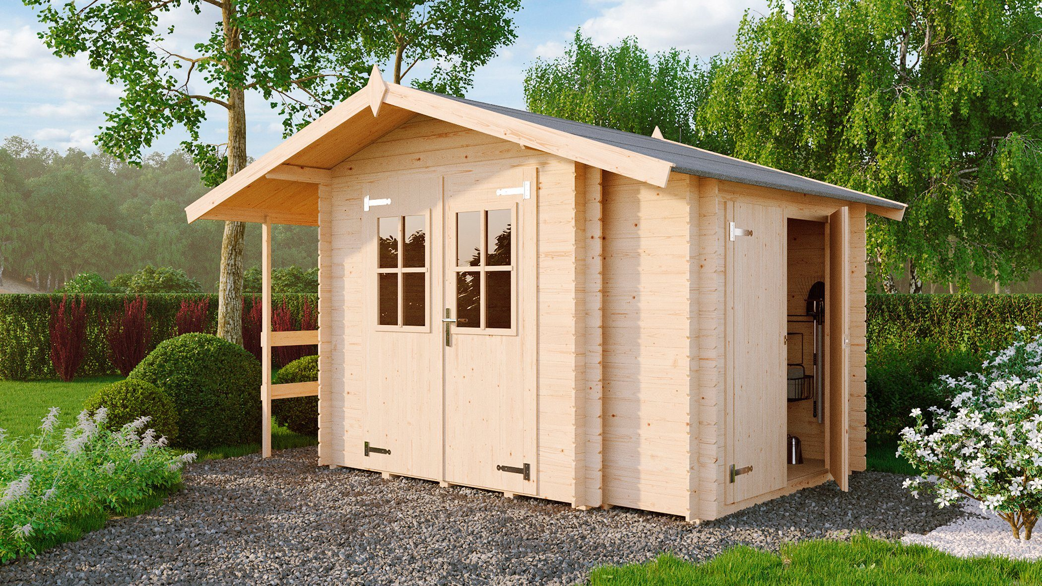 Fußboden Gartenhaus Holz ~ Nordic holz gartenhaus narva « bxt cm inkl