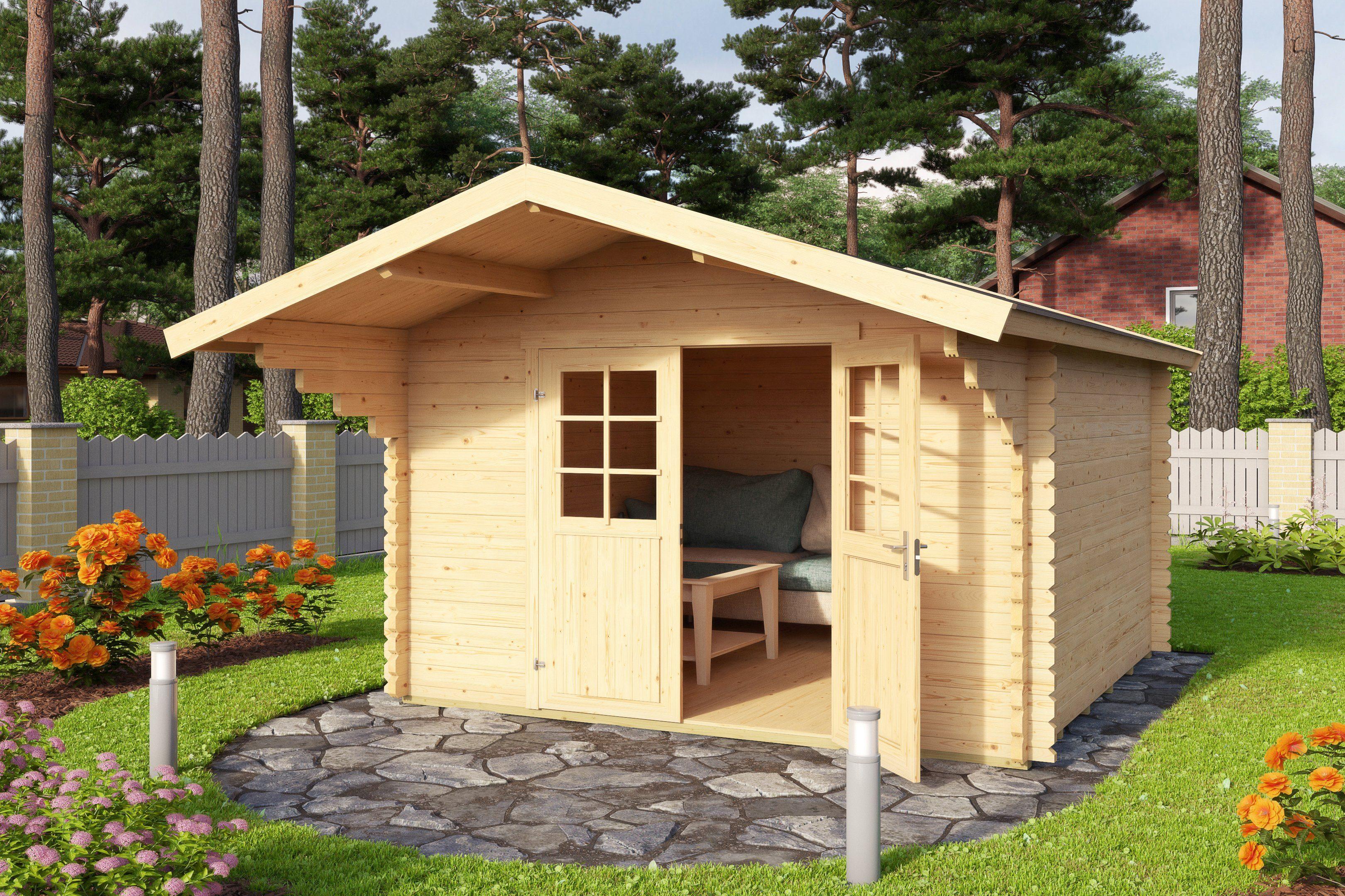 OUTDOOR LIFE PRODUCTS Gartenhaus »Viljandi 483«, BxT: 320x445 cm, inkl. Fußboden