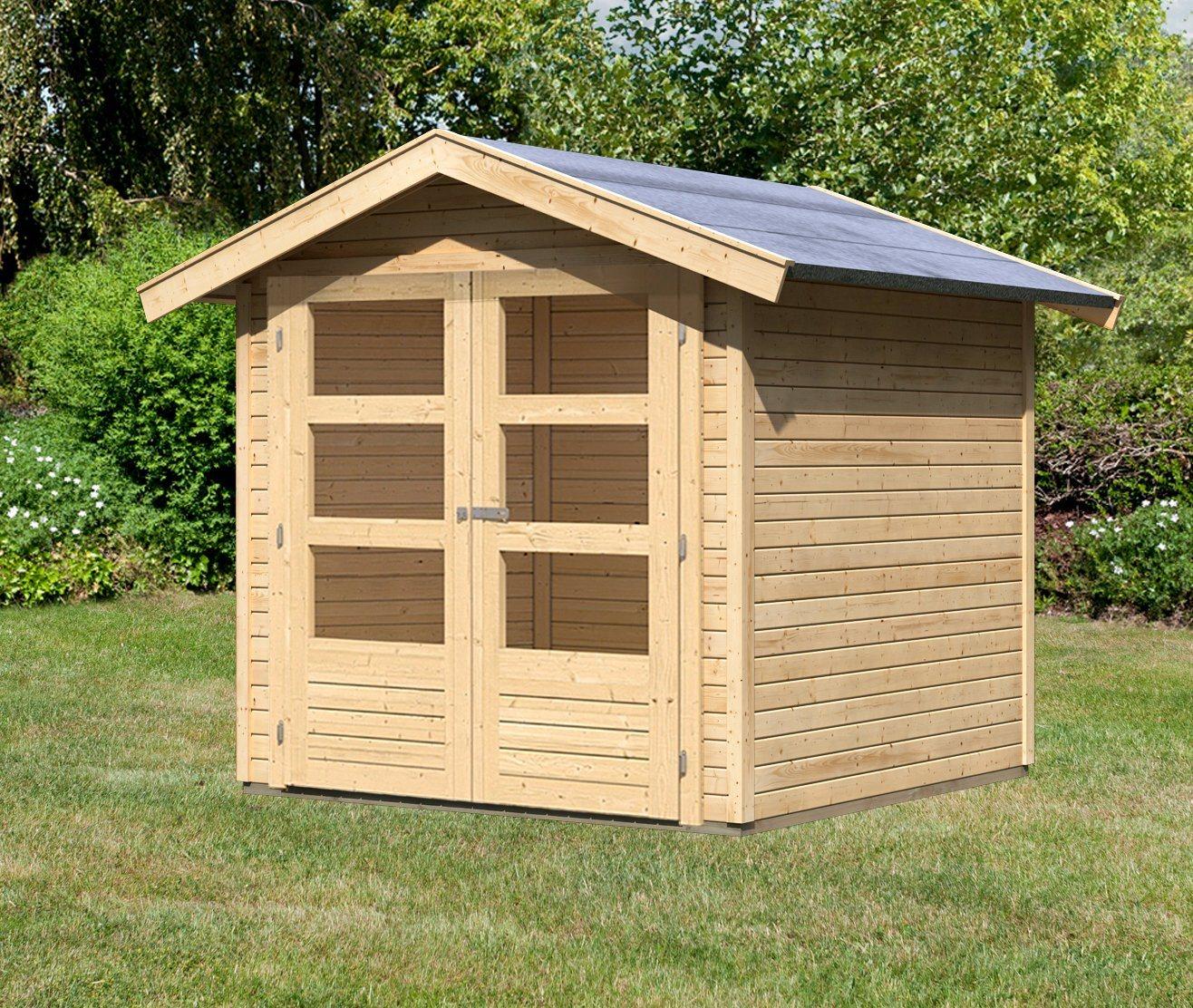 KARIBU Gartenhaus »Tostedt 3«, Gesamtmaß (BxT): 213x217 cm | Garten > Gartenhäuser | Karibu