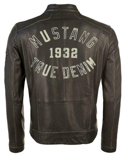 Mustang Bikerjacke mit Kontrast-Reißverschlüssen Ramos