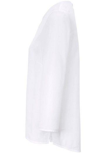 DAY.LIKE Klassische Bluse mit seidigem Schimmer, Schlitze