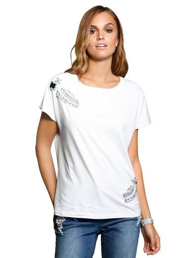 Alba Moda Shirt mit eingefassten Strass-Steinen