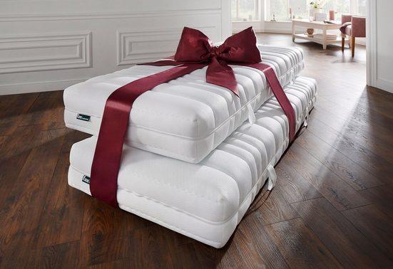 Taschenfederkernmatratze »Pro Vita Top T«, fan Schlafkomfort Exklusiv, 24 cm hoch, 544 Federn, (Spar-Set, 2-tlg), sehr gute Entlastung im Schulterbereich