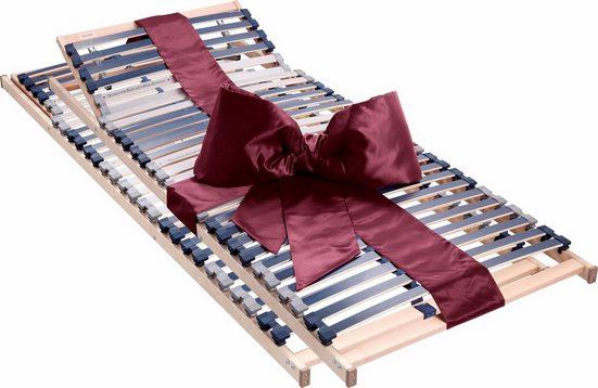 Lattenrost, »Dura Flex LR-K«, Beco, 28 Leisten, Kopfteil manuell verstellbar, Fußteil nicht verstellbar, Spar-Set, 7 Zonen, 2-tlg. ideal für Doppelbetten