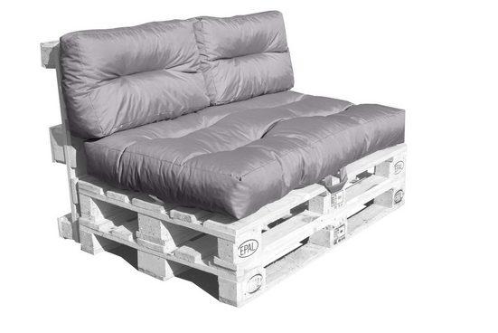GMD Living Sitzkissen »MONSUN«, sehr bequeme, dicke Palettenpolster - wasserabweisend