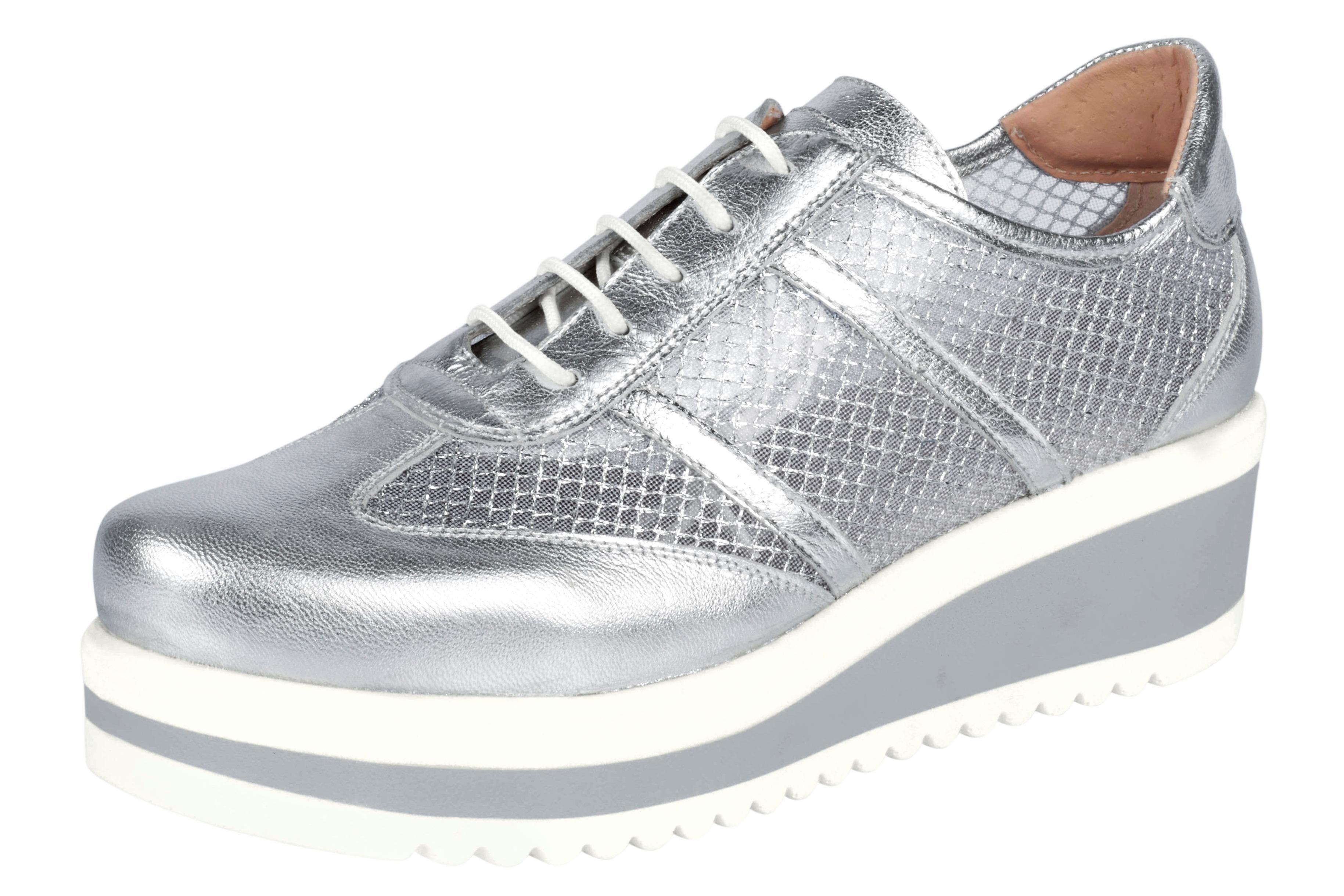 Heine Sneaker mit Mesh-Einsätzen online kaufen  silberfarben