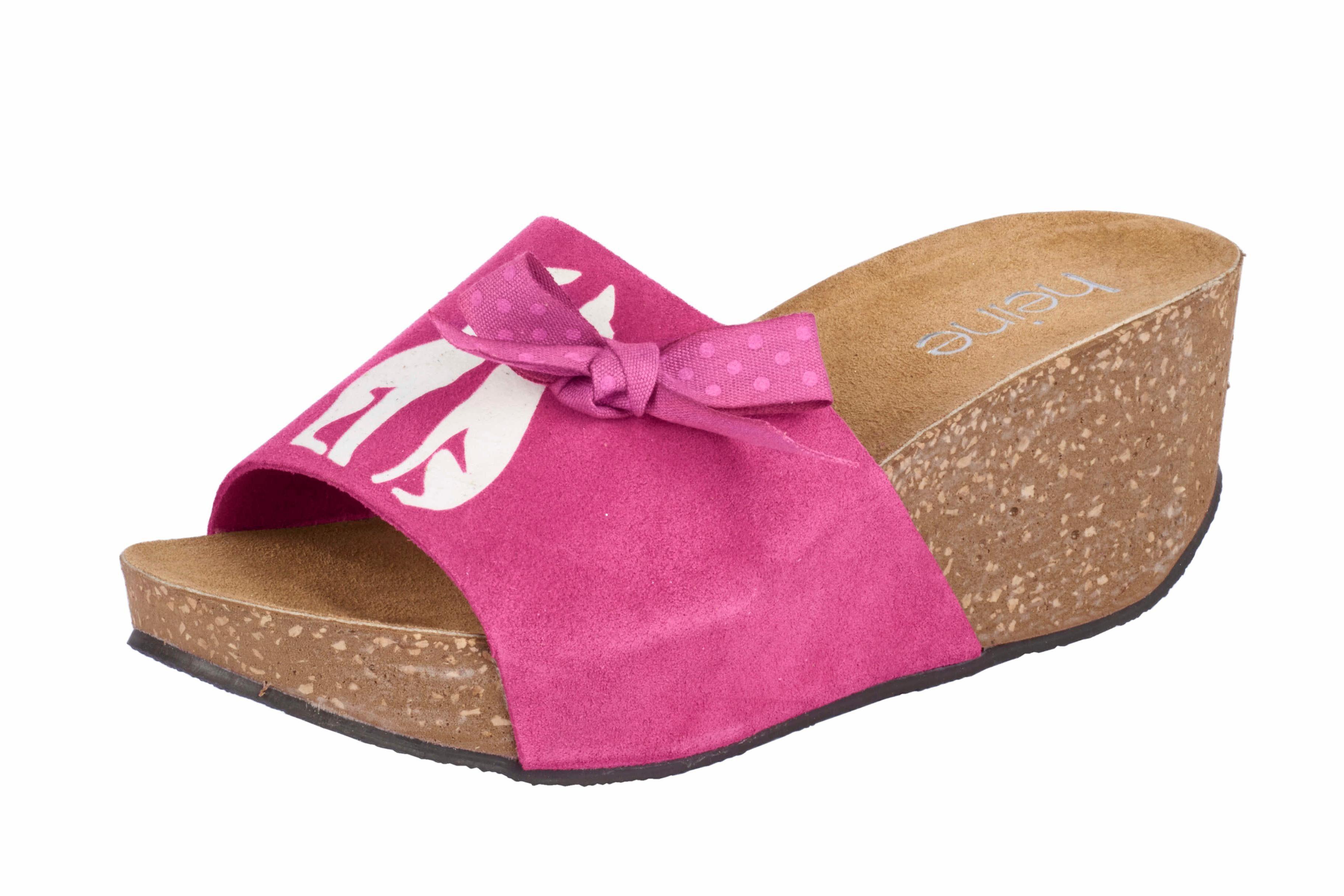 Heine Pantolette mit Print online kaufen  pink