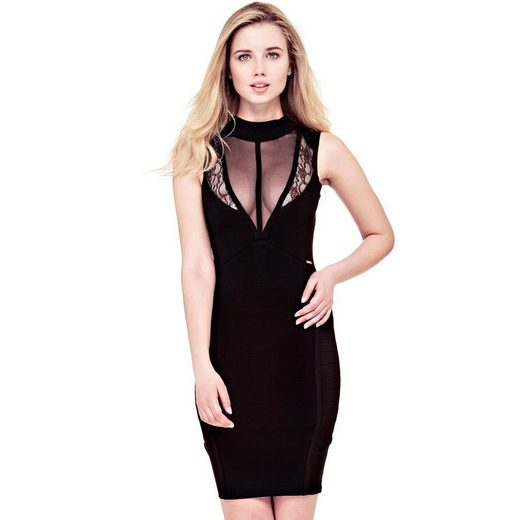 Guess KLEID DETAILS TRANSPARENTER STOFF