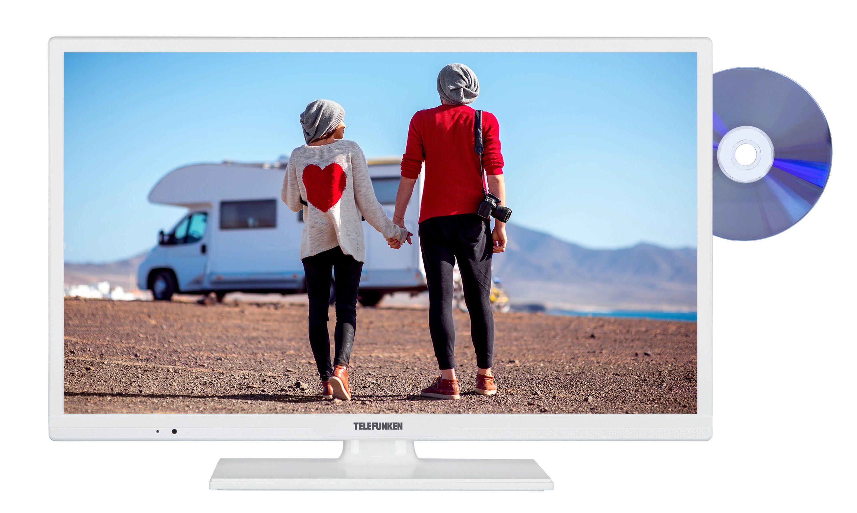 Telefunken LED-Fernseher (24 Zoll, HD ready, SmartTV, DVD, 12V, DVB-T2 HD) »XH24D401VD-W«
