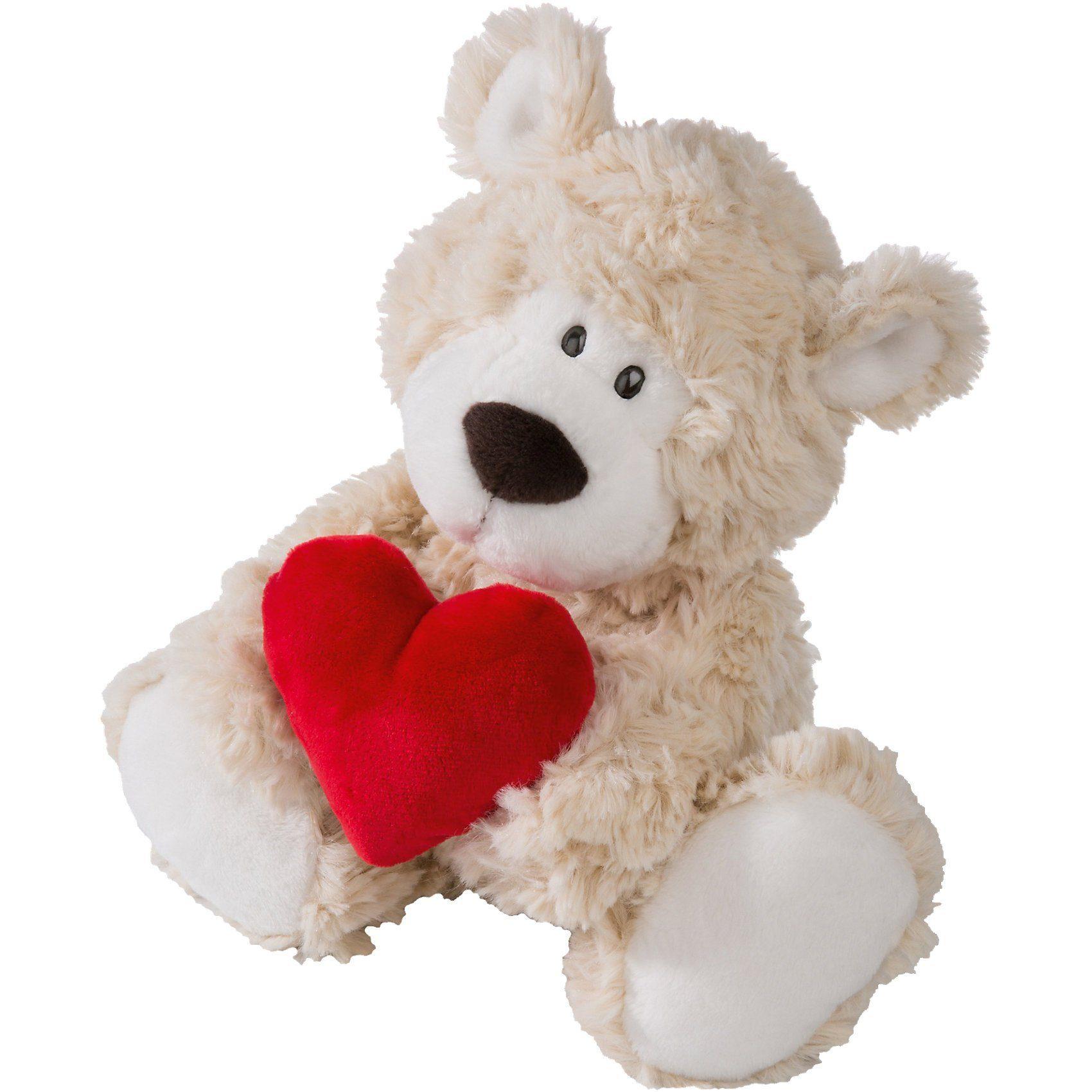 Bär beige mit Herz, 22 cm (41277)