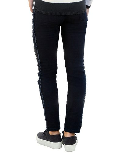 Alba Moda Jeans With Fringe On The Outside Seam