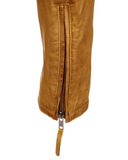 JCC Lederjacke mit zwei Brusttaschen Macadam