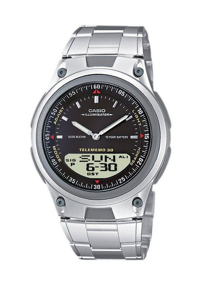 "Casio Collection, Armbanduhr, ""AW-80D-1AVES"" in silberfaben/schwarz"
