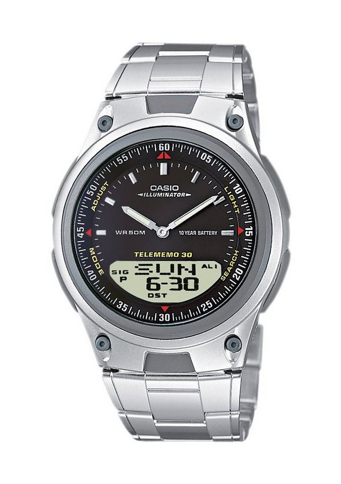 Casio Collection Chronograph »AW-80D-1AVES« in silberfarben