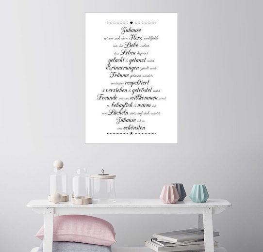 Posterlounge Wandbild - Zeit-Raum-Kunstdrucke »Zuhause«