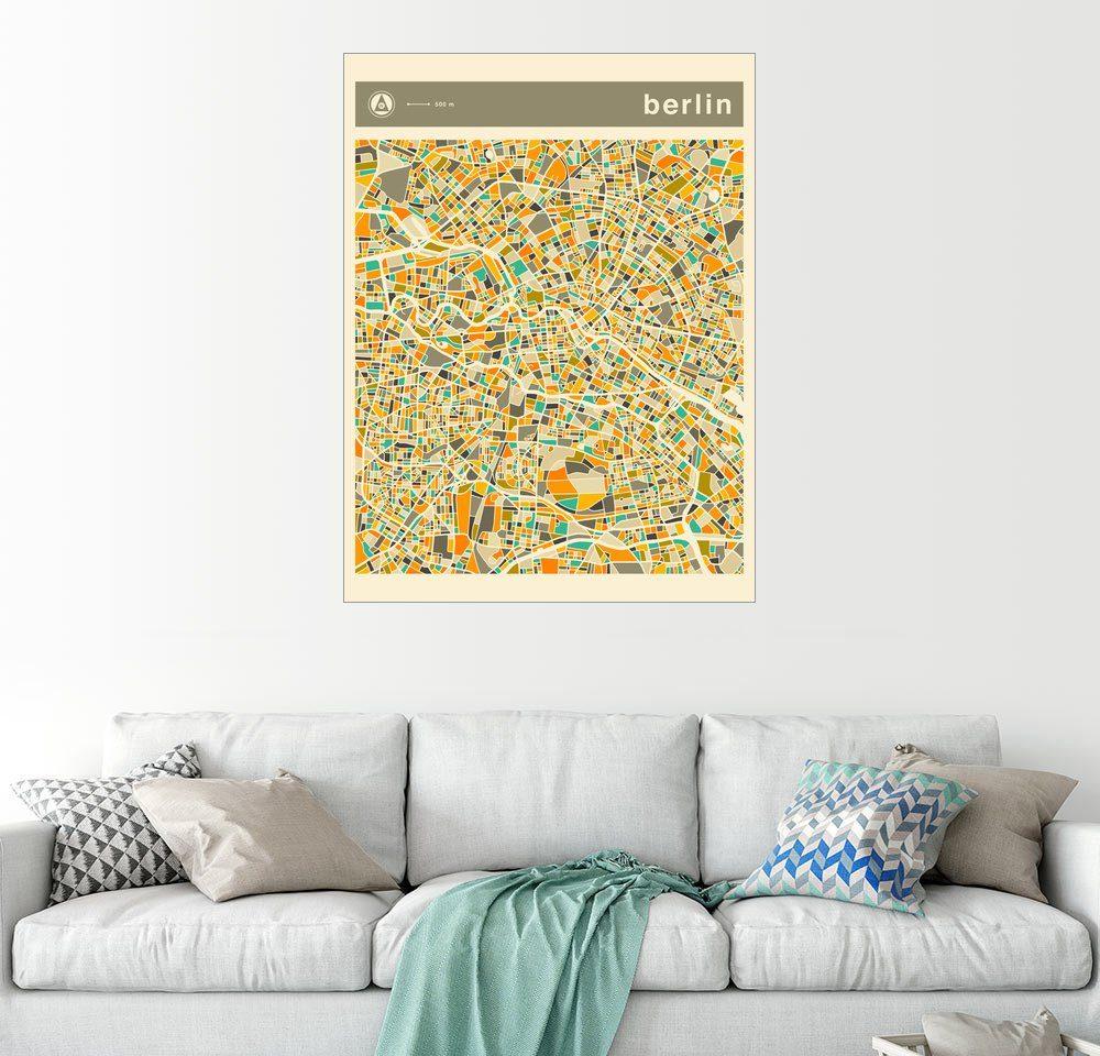 Posterlounge Wandbild »Berlin Karte«