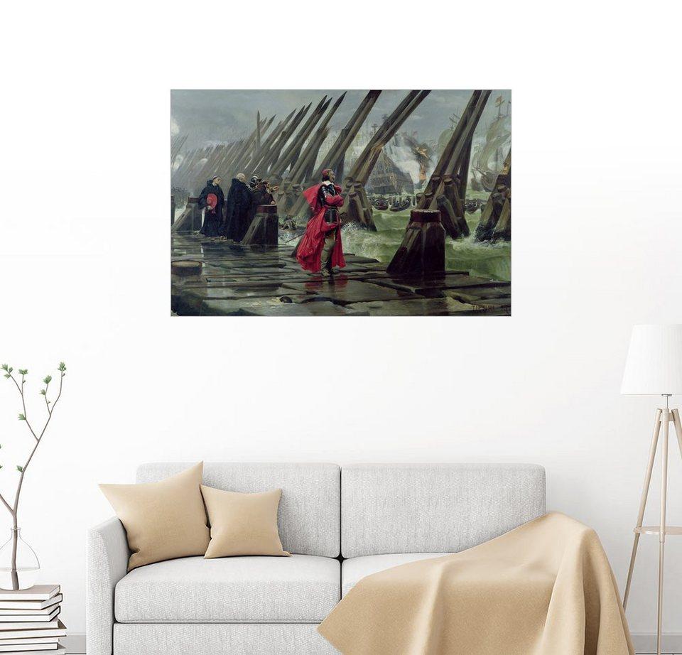 Posterlounge Wandbild - Henri-Paul Motte »Kardinal Richelieu bei der ...