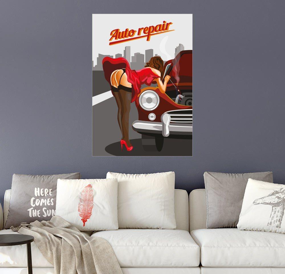 Posterlounge Wandbild »Autoreparatur«