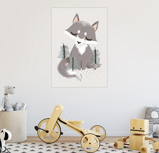 Posterlounge Wandbild - Kanzi Lue »Tierfreunde - Der Wolf«