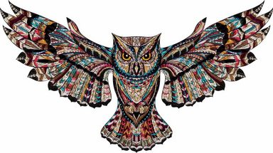 Wandtattoo »Metallic Owl«