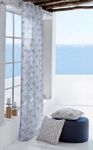 Gardine »Azulejo«, Guido Maria Kretschmer Home&Living, Ösen (2 Stück)
