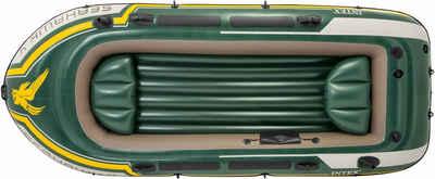 Intex Schlauchboot »Seahawk 4«, (Set, -, mit 2 Paddeln und Luftpumpe)