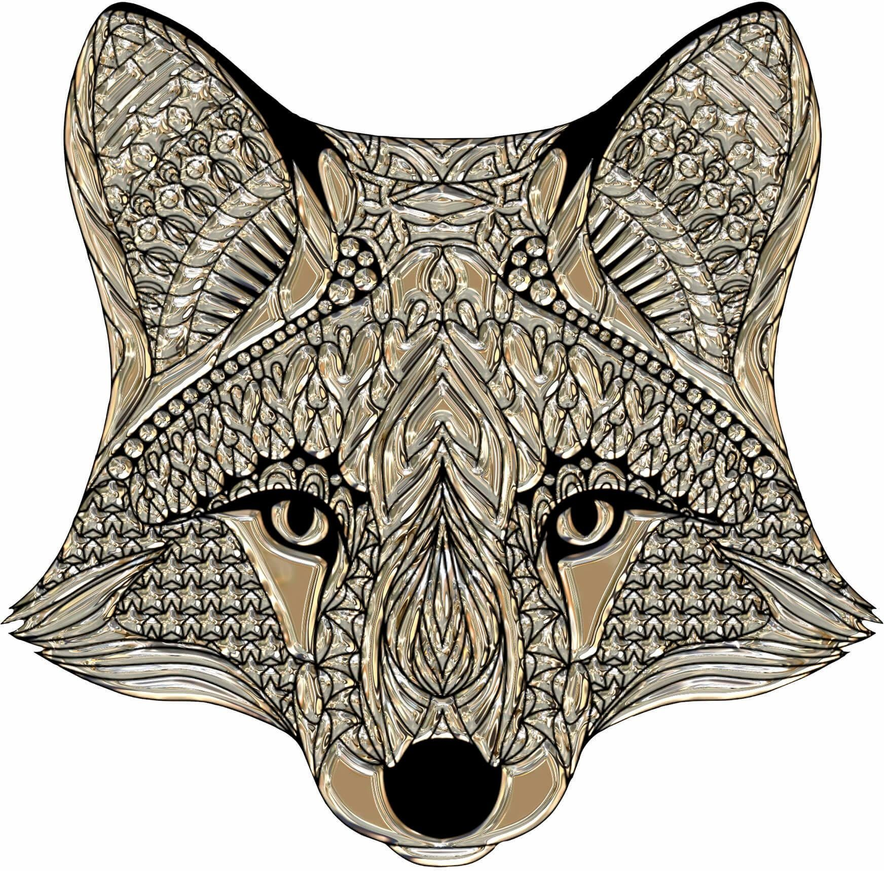 Wandtattoo »Metallic Fox«, 40/40 cm